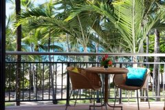 Private Balcony looking out to Four Mile Beach in Ocean View Suites - Adults only Boutique Resort Port Douglas