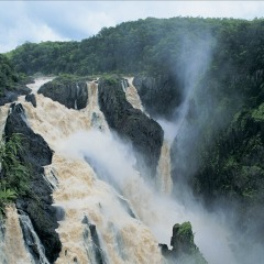 Barron Falls in full flood
