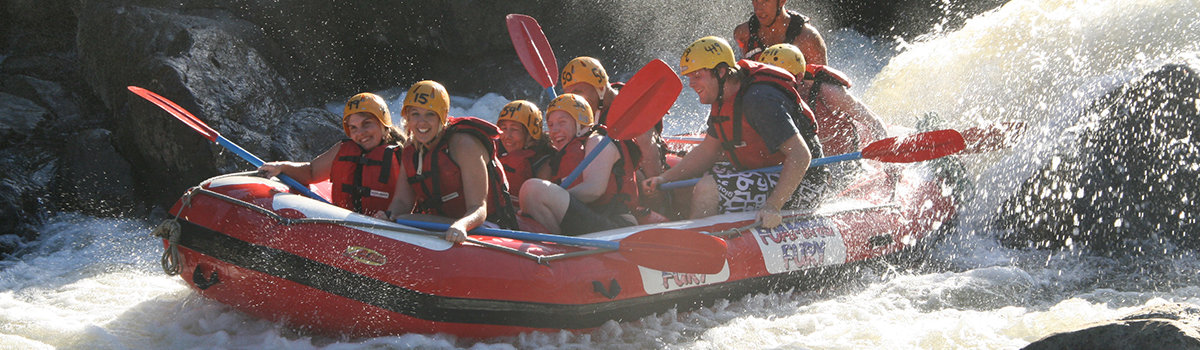 White Water Rafting Group Barron River Cairns