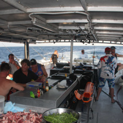 BBQ Lunch on Deck Cairns Fishing Charter