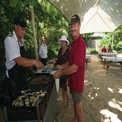Enjoy a sumptious barbeque on a tropical island