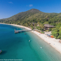 Beautiful Fitzroy Island - Cairns Skydive Combo Tour