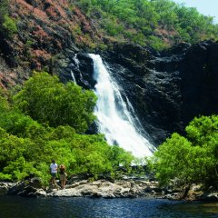 Beautiful remote waterfalls in outback Queensland