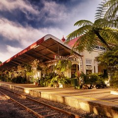 Beautiful train station in Kuranda Village
