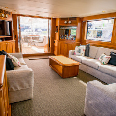Beautifully Appointed Luxury Charter Yacht Saloon - Sailing the Great Barrier Reef of Australia
