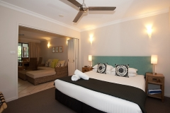 Bedroom area at Heritage Private Apartments Port Douglas