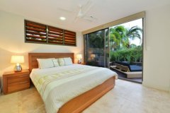 Bedroom by the Pool Deck - Port Douglas Villa style accommodation