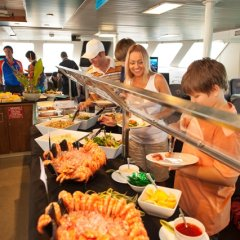 Big Buffet lunch on board the pontoon
