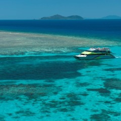 Green Island ferry boat on the Great Barrier Reef in Cairns