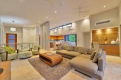 Big spacious lounge area in the Port Douglas holiday home