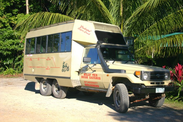 Daintree Tours -Billy Tea Safaris 4WD vehicle