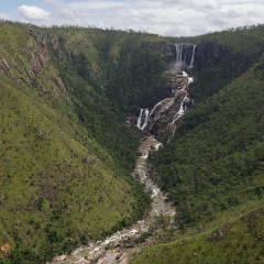 Blencoe Falls Queensland from the Helicopter Tour Seat - Cairns