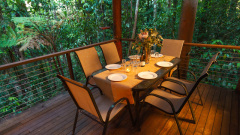 Bower House Alfresco dining surrounded by nature - Rainforest Treehouse Cairns' Nature Getaway