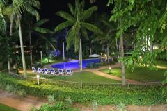 Cairns Beach Resort Gardens at night