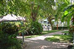 Cairns Beach Resort tropical gardens and relaxed holiday atmosphere