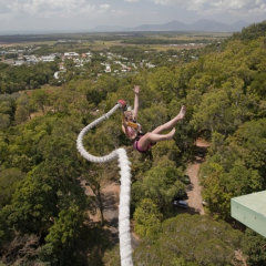 Cairns Bungy Jumping on a rubber band