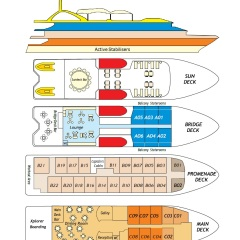 Cairns Cruise Ship - Deck Plan