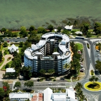 Cairns DoubleTree by Hilton located on Cairns Esplanade