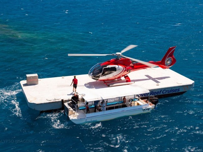 Cairns Helicopter Flight & Great Barrier Reef Pontoon