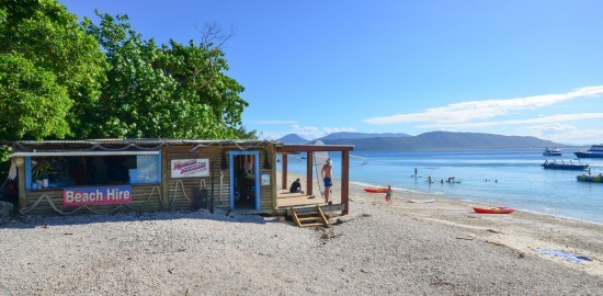 Cairns Private Boat Charter | Fitzroy Island Beach Activities Hut