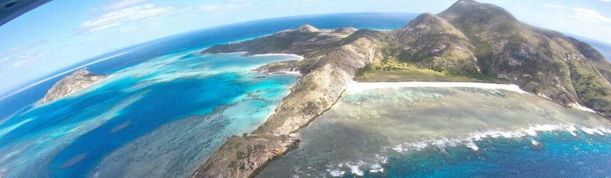 Cairns private charter fixed wing scenic flights to Lizard Island