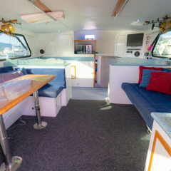 Cairns Reef Fishing - Interior of Luxury Fishing Boat