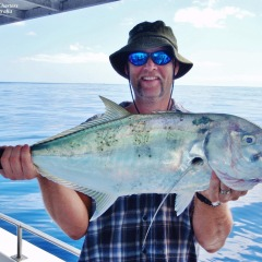 Cacth Of The Day On The Great Barrier Reef Off Cairns In Tropical North Queensland | Trevally