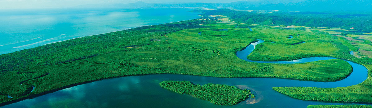 Cairns Scenic Flights - Aerial View Over the Daintree