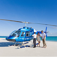 Cairns Tours - Cairns Attractions - Helicopter on the Beach