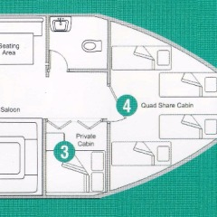 Cairns Yacht Charter - Dive & Snorkel Tours - Boat Layout