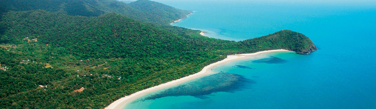 Cape Tribulation ariel view