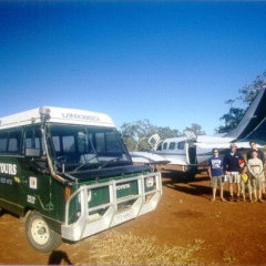 Cape York - Plane is met by 4WD