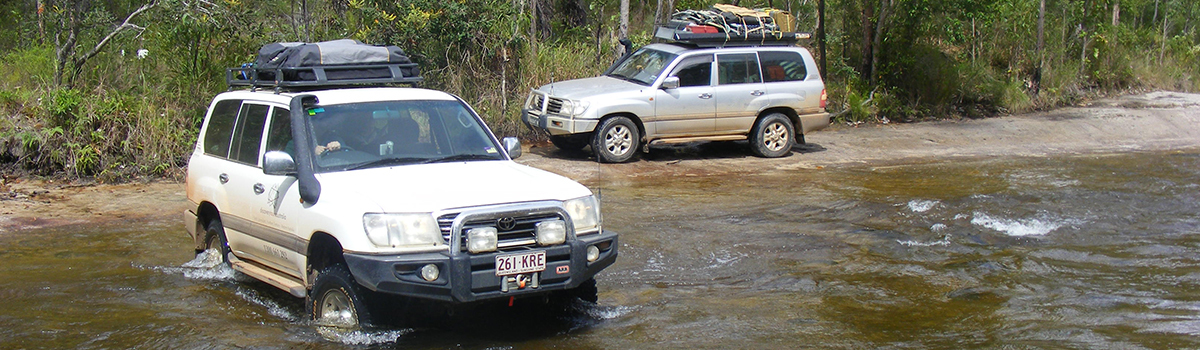 Cape York Tours | Creek Crossing on Cape York 4WD Tour