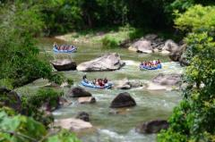 Enjoy some adventure on your Mission beachfront holiday with a day trip White Water Rafting on the Tully River