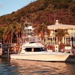 Charter boat at Cooktown marina