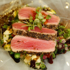 Charter Boats Port Douglas - Fresh Caught Tuna Prepared by Onboard Chef