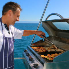 Chef prepared meals on private motor yacht charter - Port Douglas - Australia