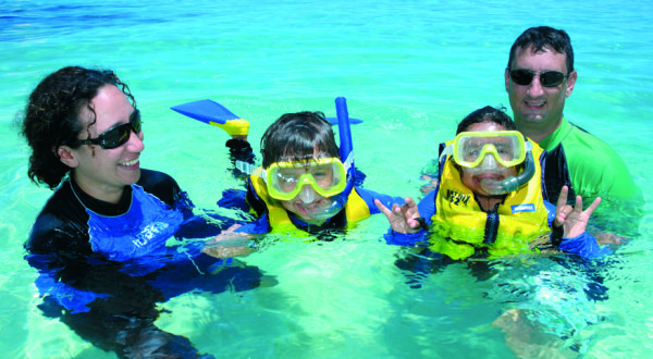 Full Day Cruise | Children Snorkelling Lesson On The Great Barrier Reef At Michaelmas Cay