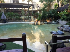 Children's Wading Pool - great family accommodation with walkway to Palm Cove Beach