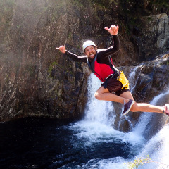 Cliff Jumping into Behana Creek