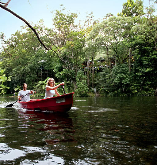 Complimentary Activities - Canoeing on Mossman River