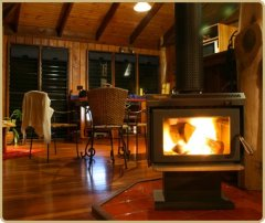 Enjoy cool evenings with a Wood Fire at Mt Quincan Crater Retreat - Romantic Retreat Cairns Tablelands