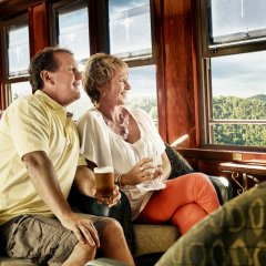 Couple Enjoying View from Kuranda Train