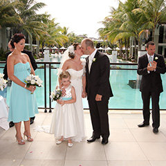 Couple getting married at Sea Temple Port Douglas