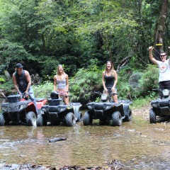 Creek Crossing on ATV Quad Bike Tours in Kuranda Rainforest