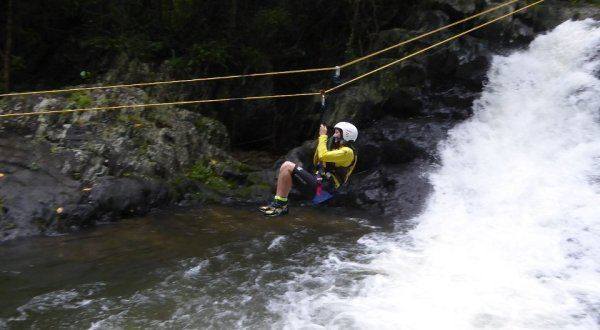 Creek Zipline in Cairns - Cairns Canyoning Tour