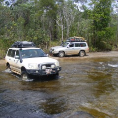 Crossing Creeks in the 4WD Cairns to Cape York 4WD Tour