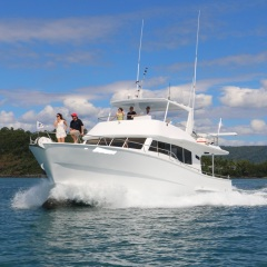 Private Charter Boat Cruising on the Great Barrier Reef from Port Douglas