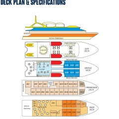 Darwin To Cairns 11 Night Cruise | Deck Plan