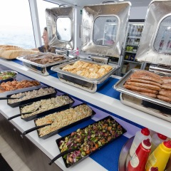 Delicious Aussie BBQ Lunch on our Great Barrier Reef Tour from Cairns Australia